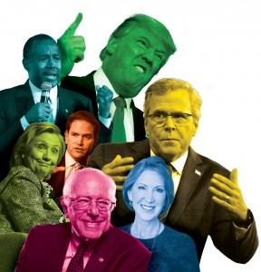 A collage of the presidential candidates