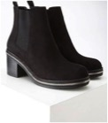 Forever 21 Women's Black Faux Suede Chelsea Boots $39.00