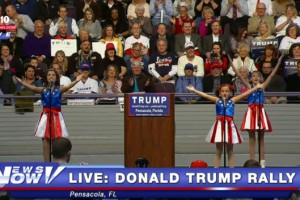 Donald Trump and the Freedom Girls