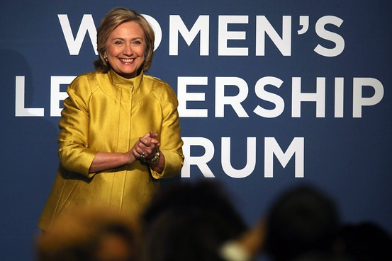 Hillary at the Women's Leadership Forum