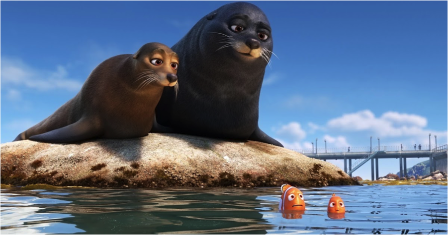 Sea lions from Finding Dory