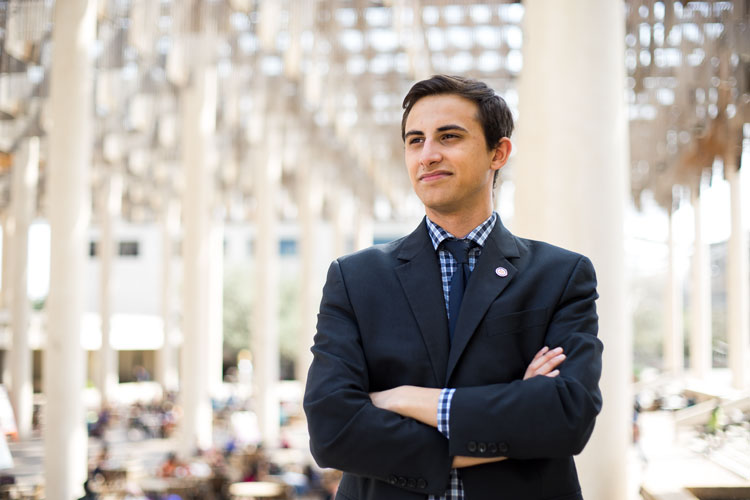 UTSA Student Body President Andrew Hubbard Answers the Study Breaks Questionnaire