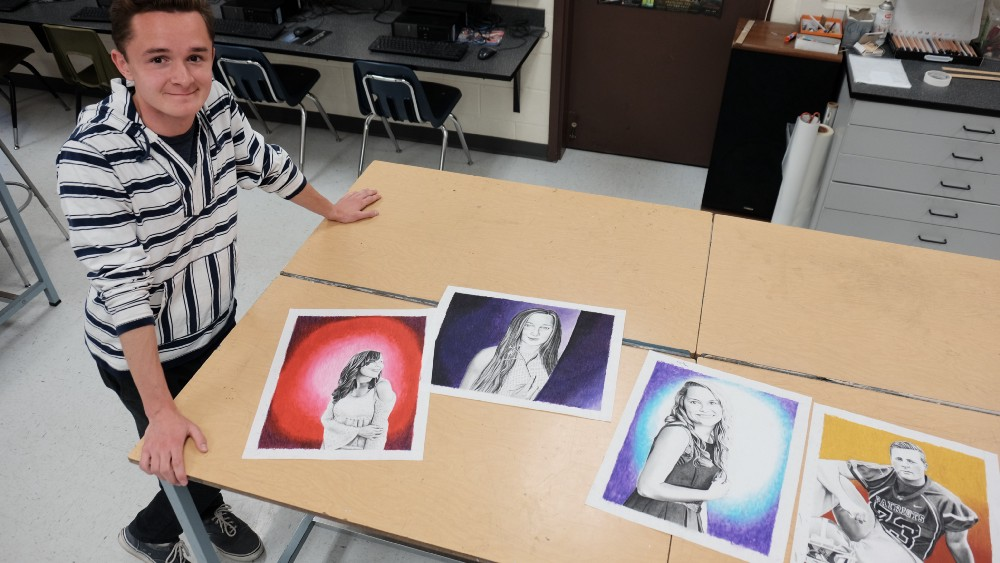 This NDSU Freshman Secretly Painted Charcoal Portraits of His Jazz Choir