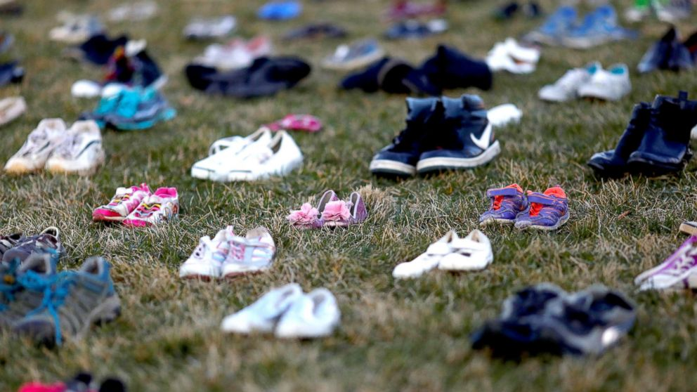 Activists Strew Capitol Hill with 14,000 Shoes to Protest Gun Violence
