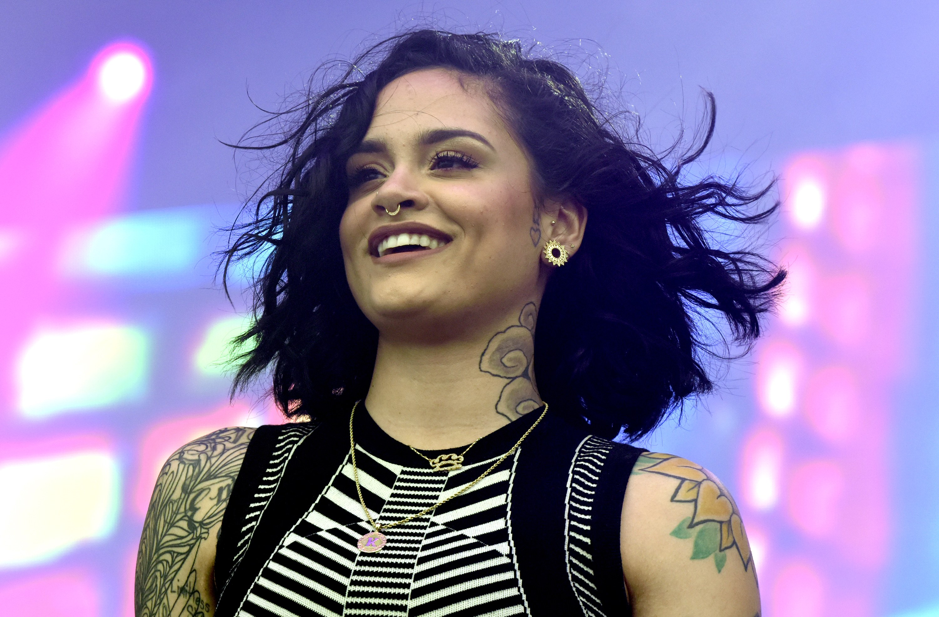 Pop singer Kehlani's pregnancy has been scrutinized due to her queer identity. (Image via Teen Vogue)