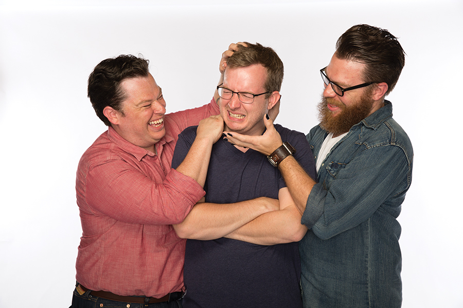 "The McElroy boys have started their own podcasting empire, and are now known as the ""good boys"" of comedy. (Image via wilwilliams.reviews)"