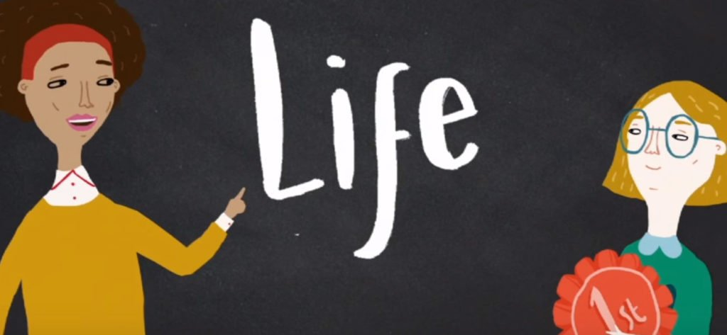 """The School of Life"" study channel has a very promising future. (Image via Happiness)"