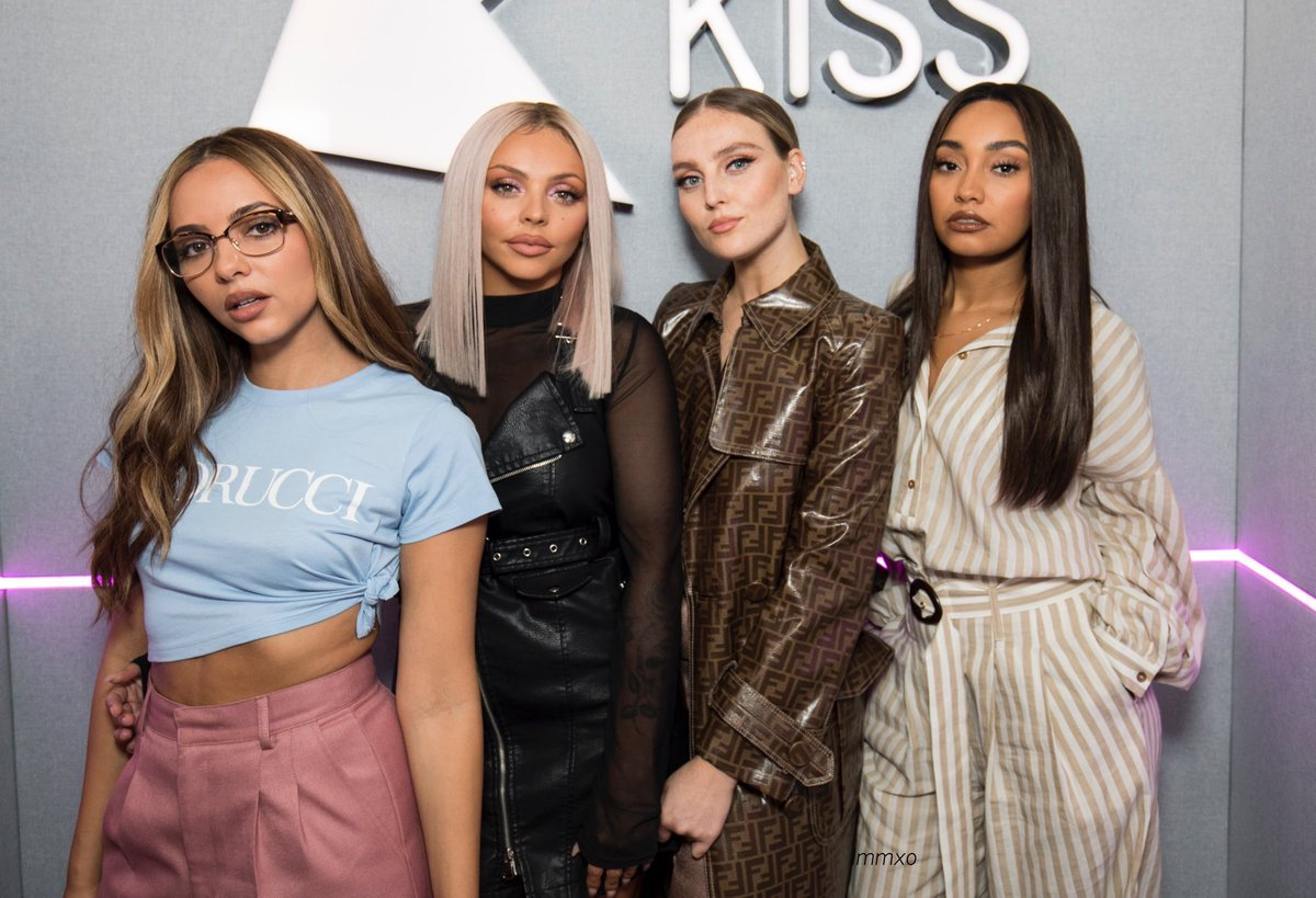 Little Mix preaches self confidence and loving your natural self, yet they're hardly ever seen without makeup on. (Image via Twitter)