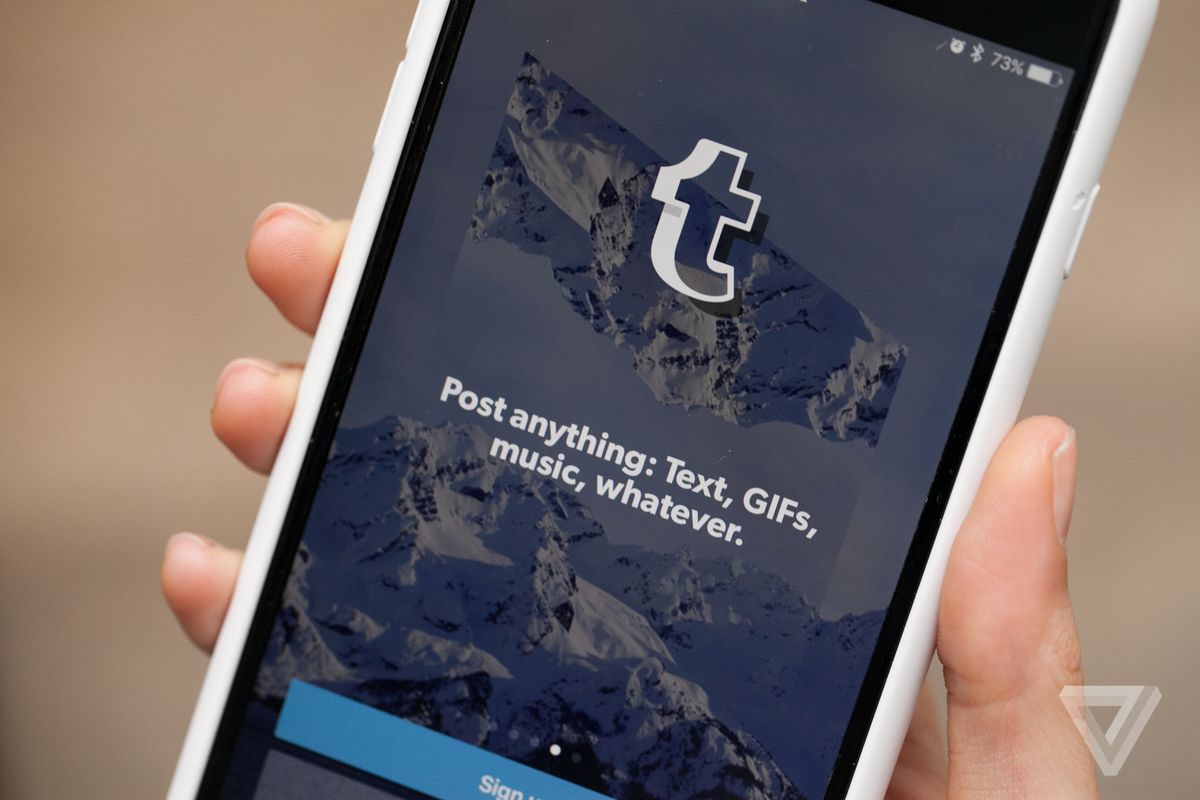 The Tumblr ban has forced the media platform re-invent itself. (Image via The Verge)