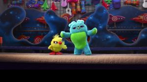 """Bunny and Ducky seem like odd editions to the """"Toy Story"""" franchise. (Image via US Weekly)"""