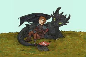 """The third installment of the """"How To Train Your Dragon"""" trilogy may be the most emotional yet. (Illustration via Kell Kitsch, Deakin University)"""