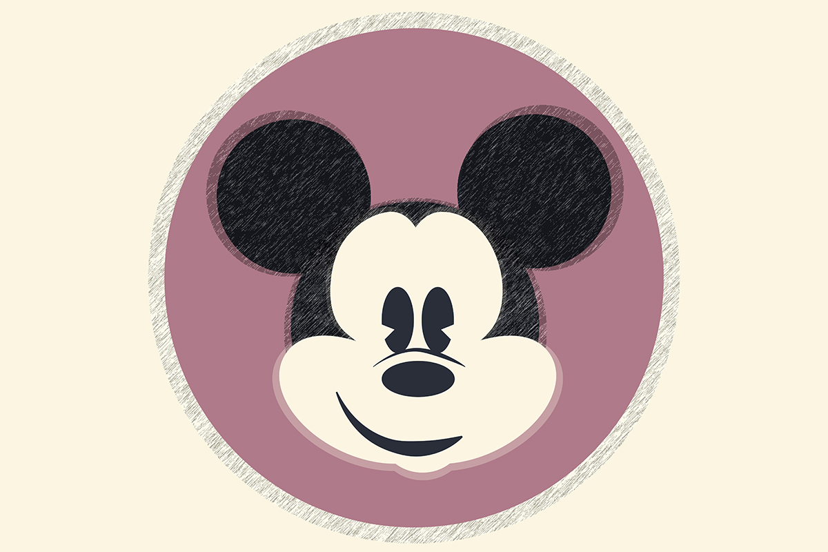 Illustration of Mickey Mouse by Natasha McDonald on article about Disney World