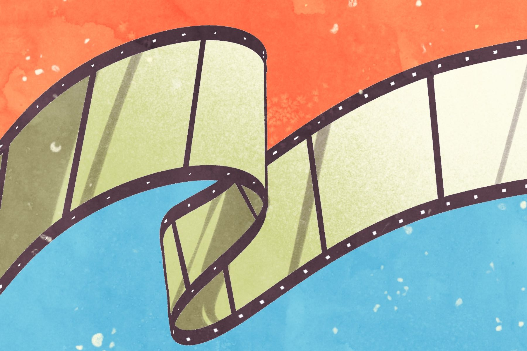 Illustration of film strip in article about app Letterboxd