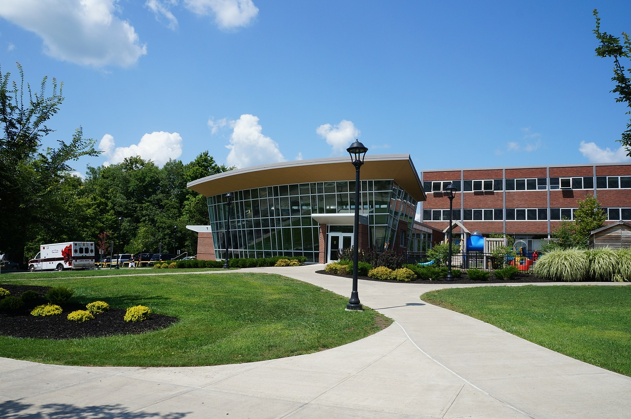 Welcome center for a campus visit