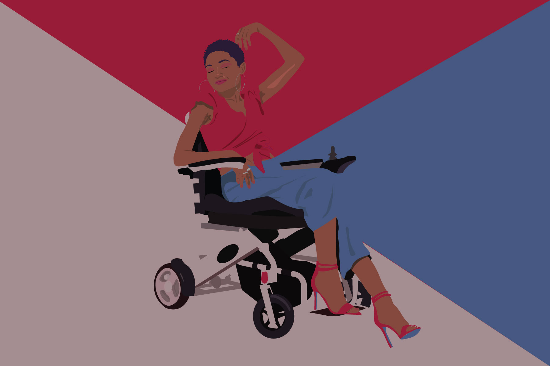 Illustration of female influencers with disabilities