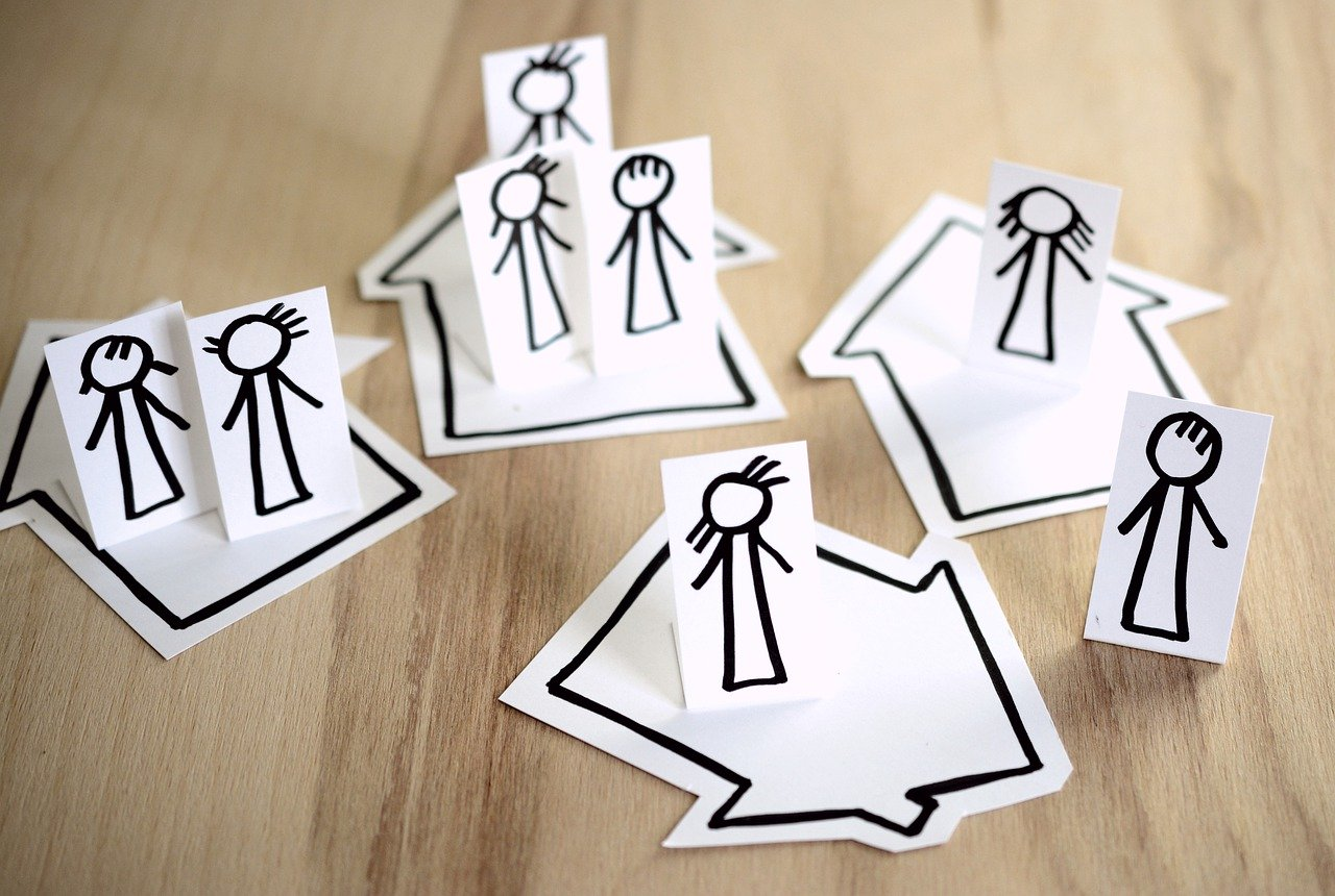 stick figures stuck in houses in article about quarantine