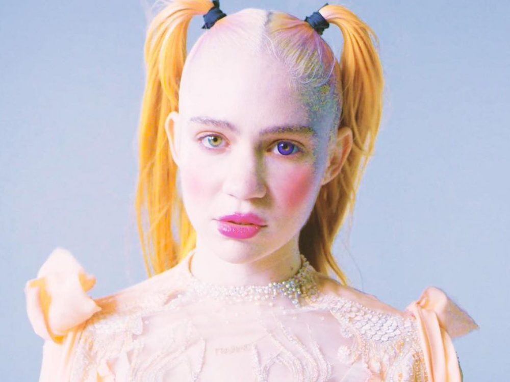 Grimes for a video for the song from her album Miss Anthropocene