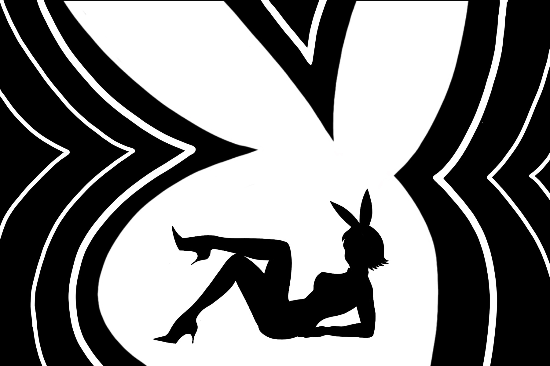 Illustration of a Playboy Bunny