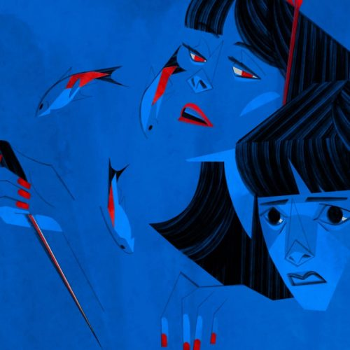 Illustration by Francesca Mahaney of a the Mima from Perfect Blue