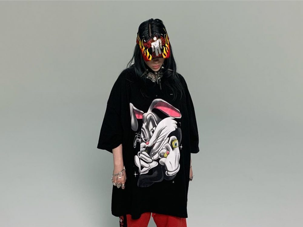 Billie Eilish in an article about androgynous fashion