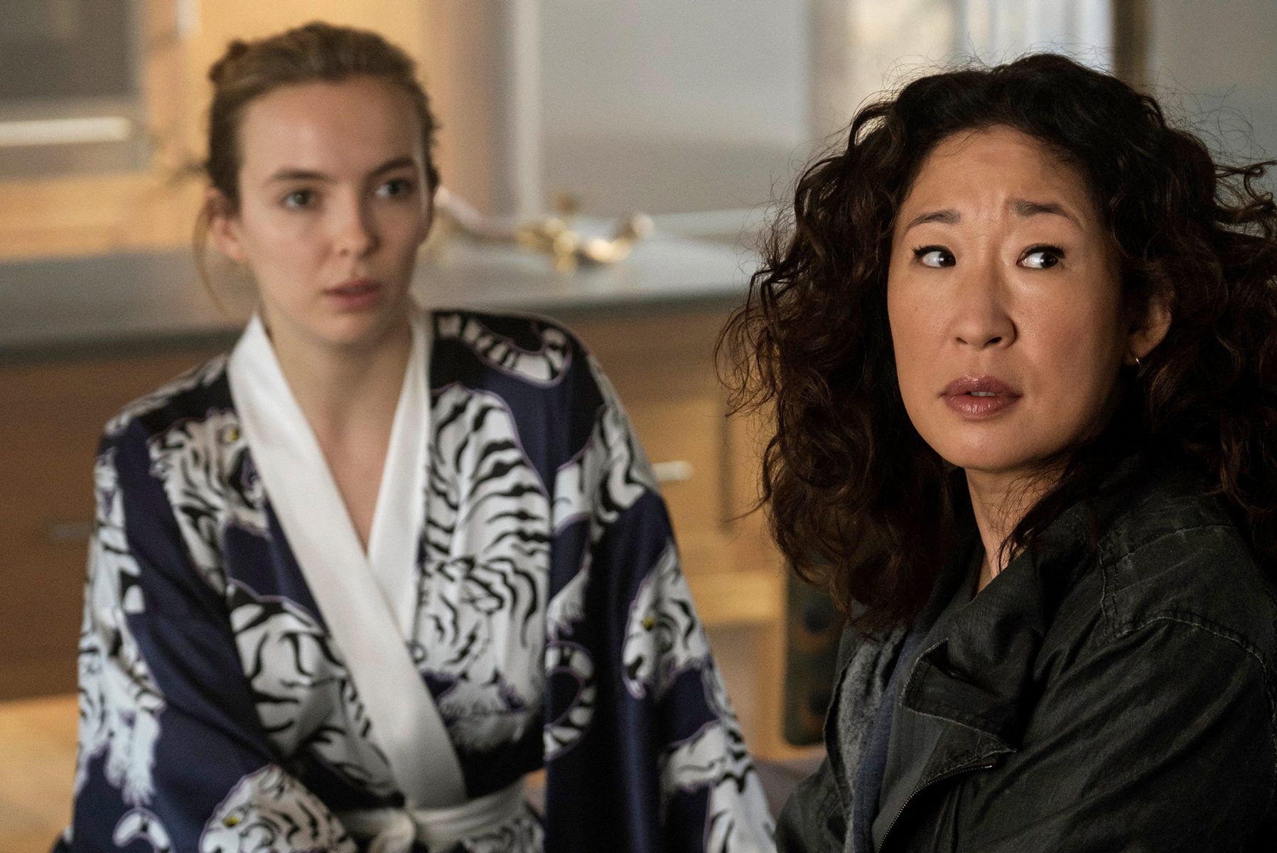 Jodie Comer and Sandra Oh in 'Killing Eve.'