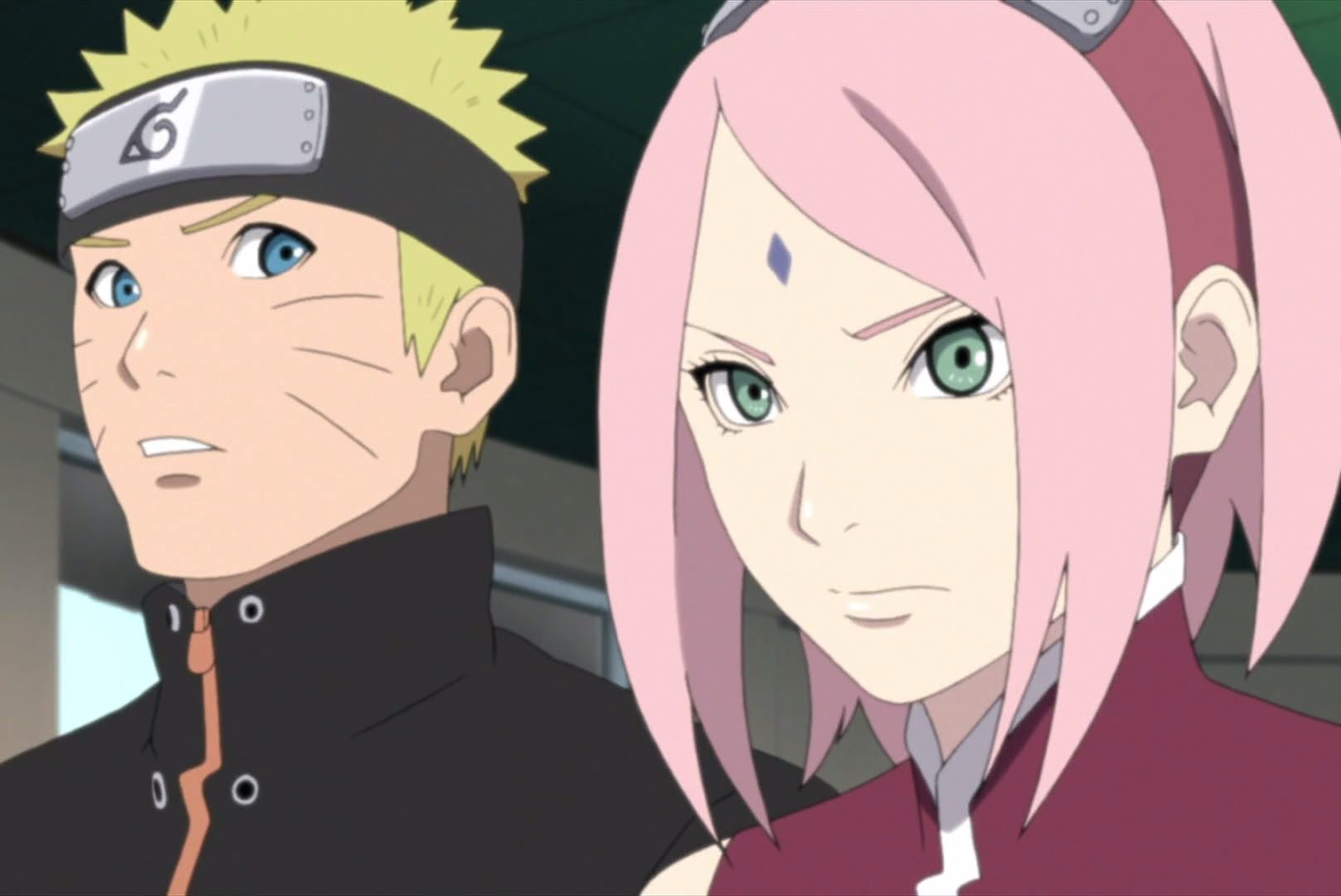 Sakura with Naruto from the anime Naruto