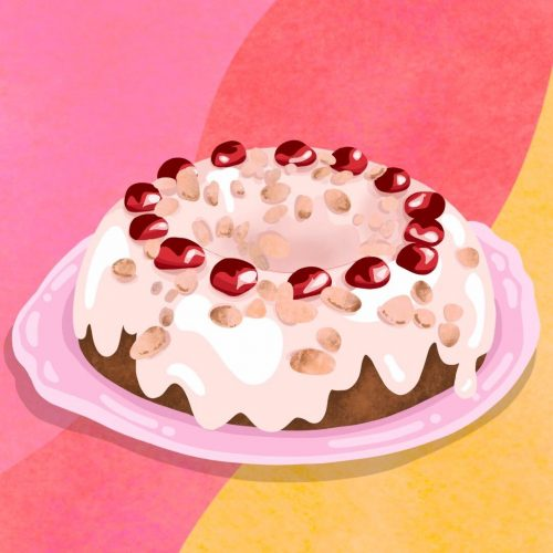 Illustration by Sarah Yu of a cake