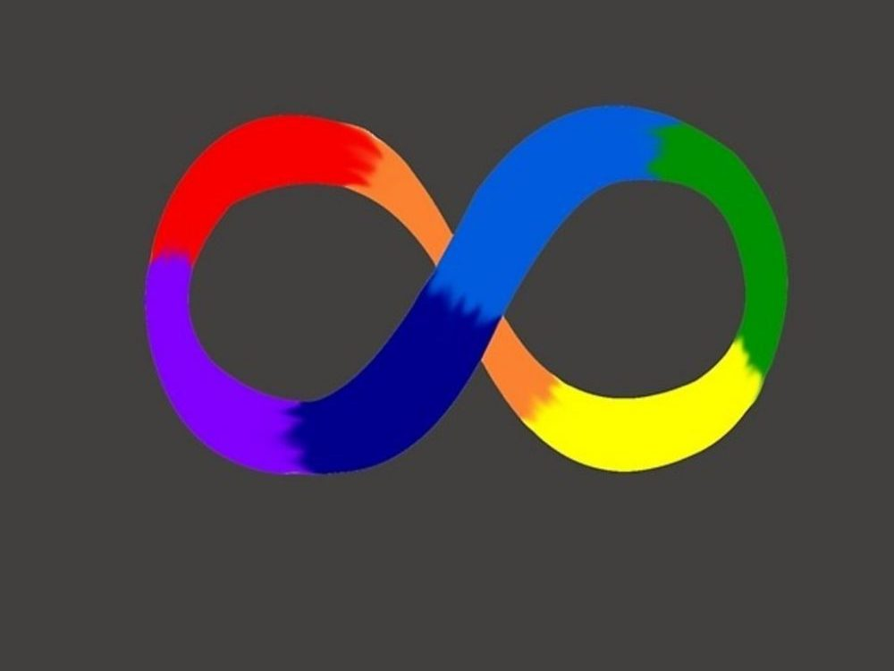 In article about Autism Speaks, the rainbow infinity symbol, which stands for the diversity of the autism spectrum