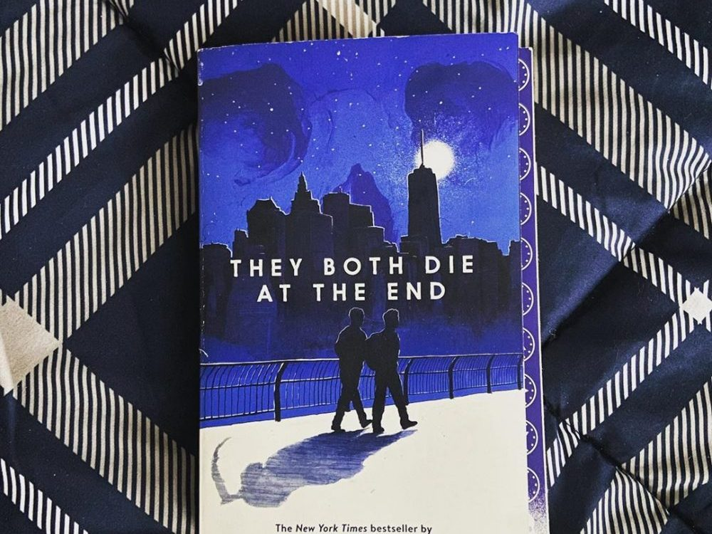 A copy of the young adult book They Both Die at the End