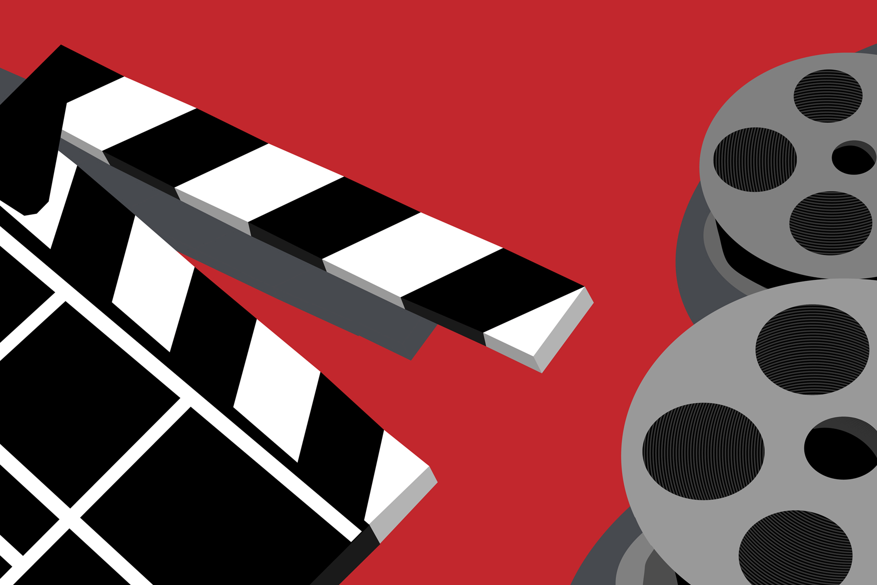 In an article about the We Are One film festival, an illustration by Diana Egan of two film reels and a slate board