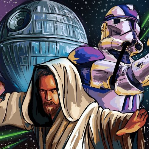 Illustration by Sydney Sabotta of Star Wars characters