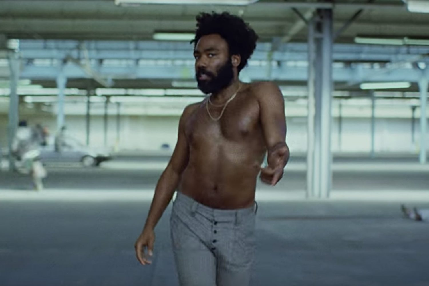 In an article about his latest album 3.15.20, a screenshot of Donald Glover