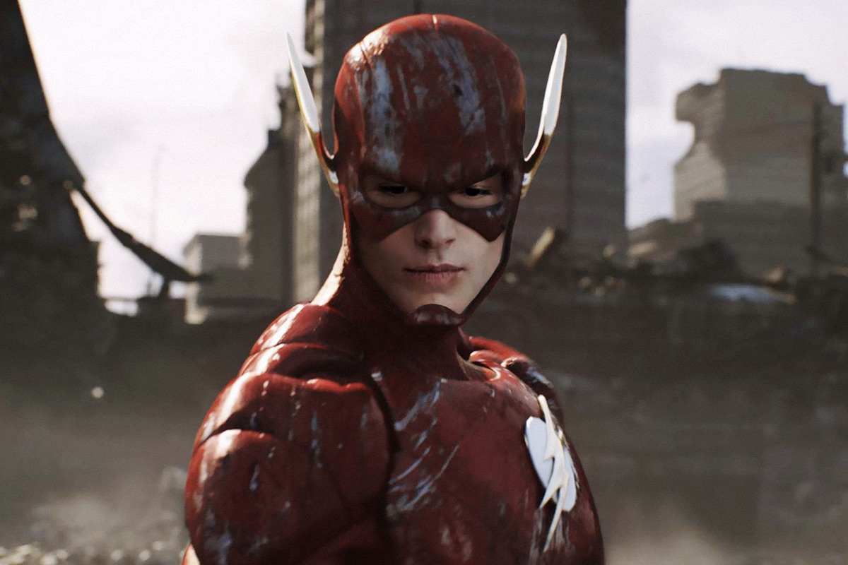 Image of Ezra Miller as the Flash in an article about the upcoming film Flashpoint