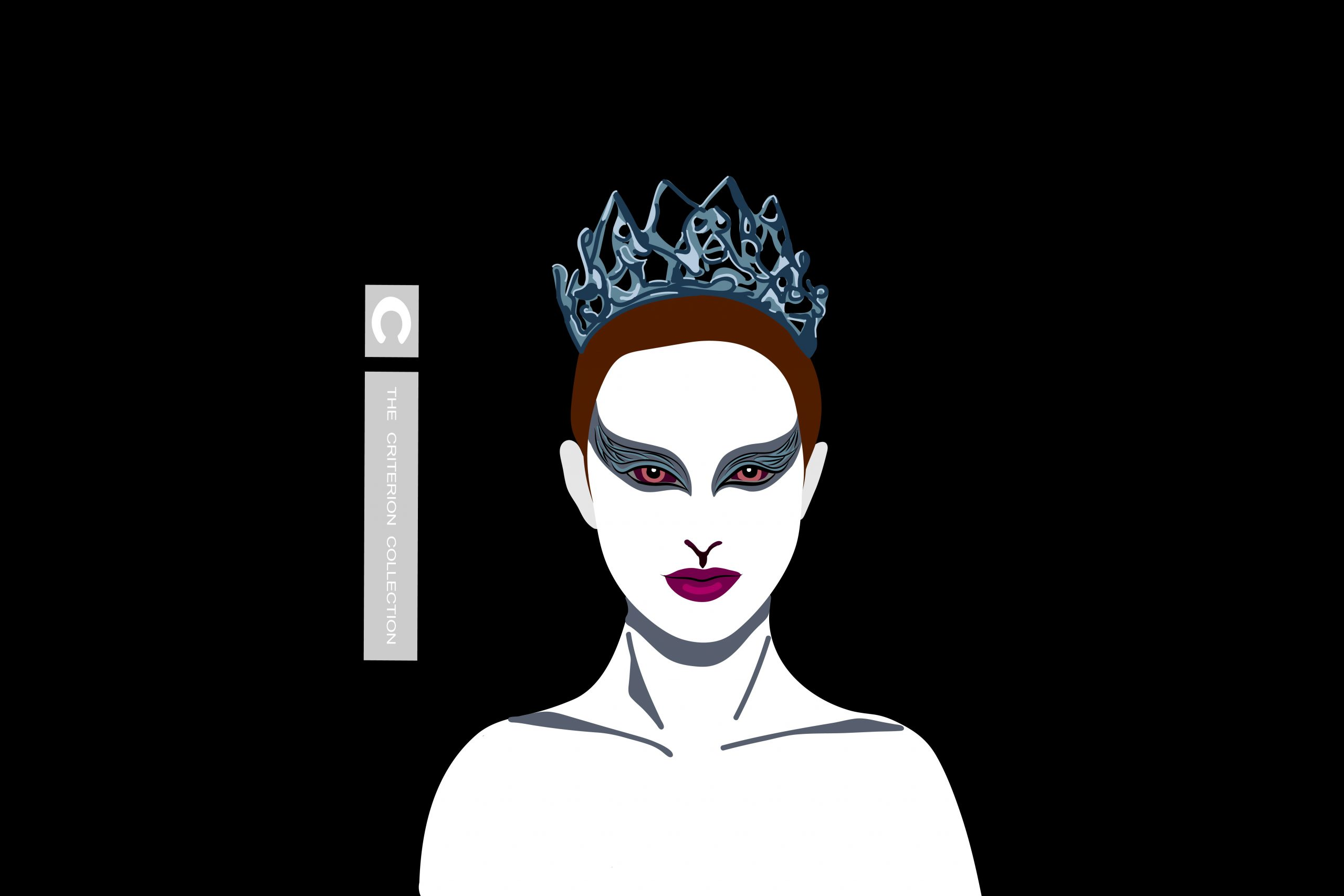 A drawing of Natalie Portman's character from the film 'The Black Swan'