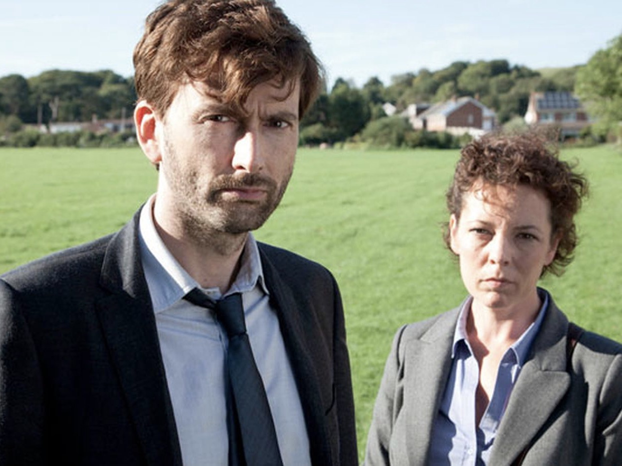 Image of David Tennant and Olivia Colman in Broadchurch