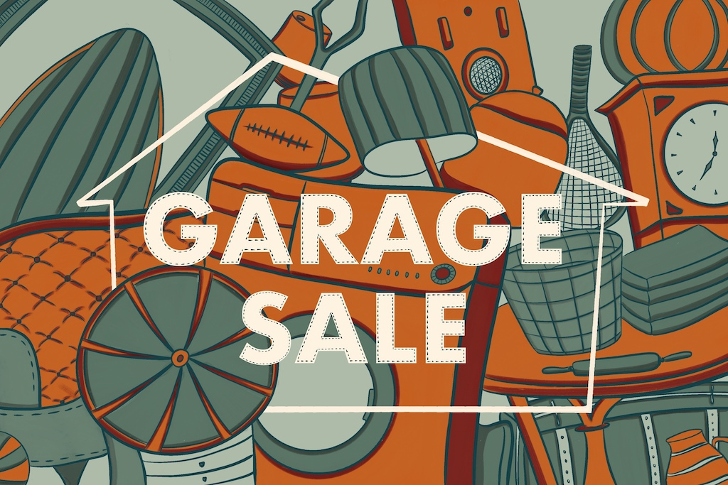 Illustration of garage sale flyer