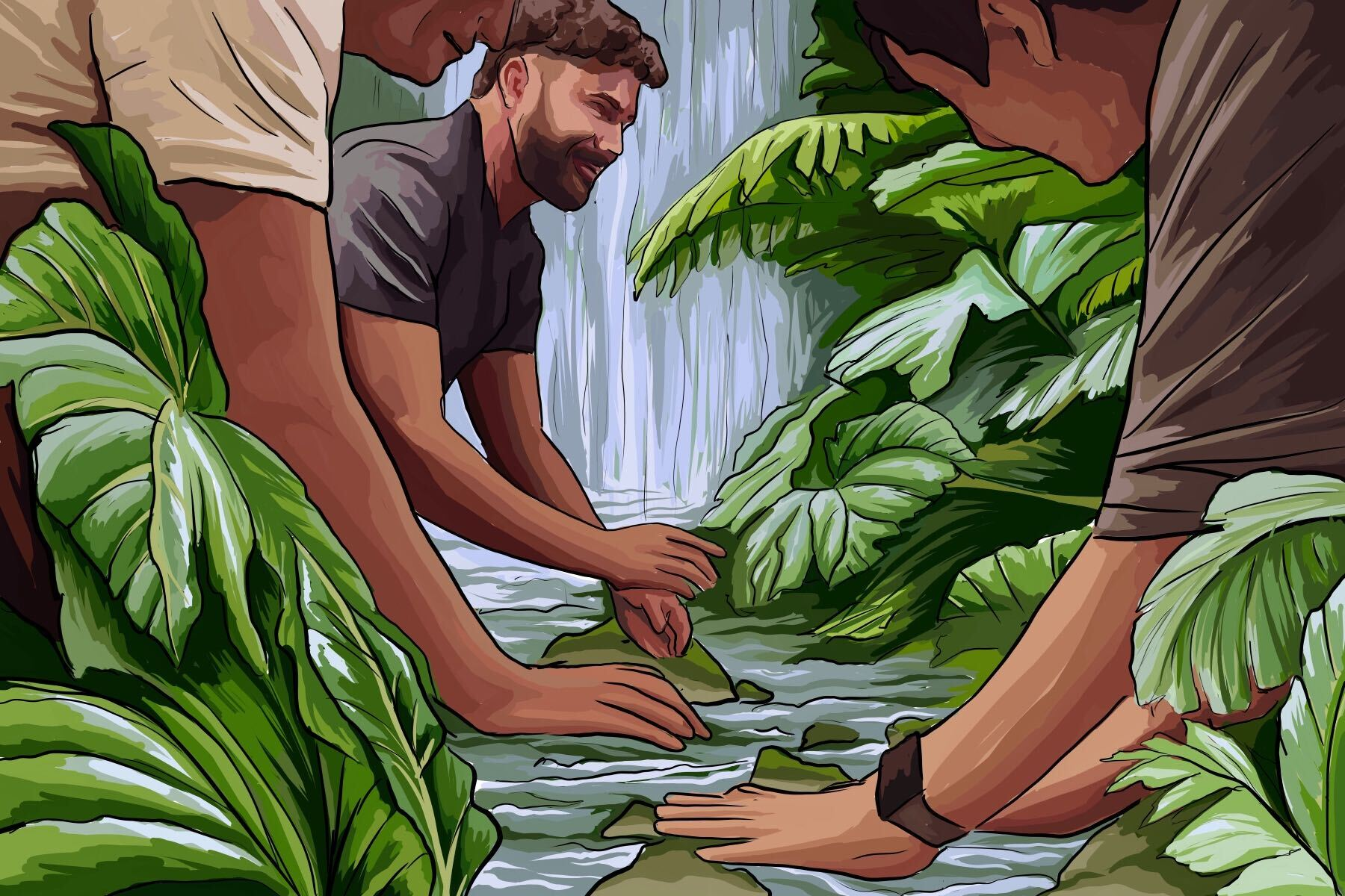 An illustration of Zac Efron helping to save the planet from the documentary titled 'Down to Earth'