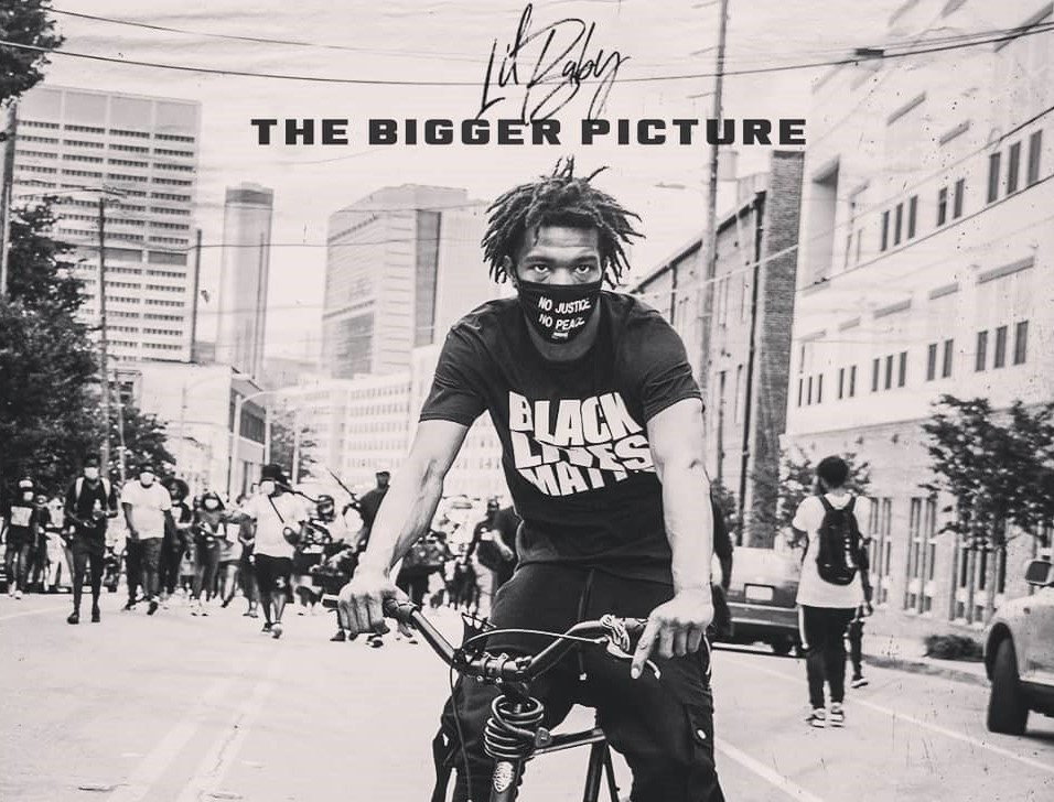 "Instagram picture of Lil Baby's single ""The Bigger Picture,"" a protest song"
