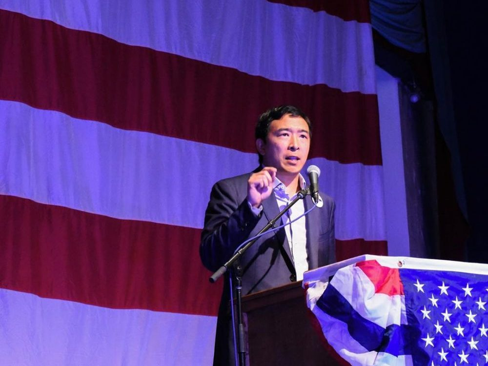 In an article about conflicting conceptions of Asian American identity between John Cho and Andrew Yang, a picture of Andrew Yang