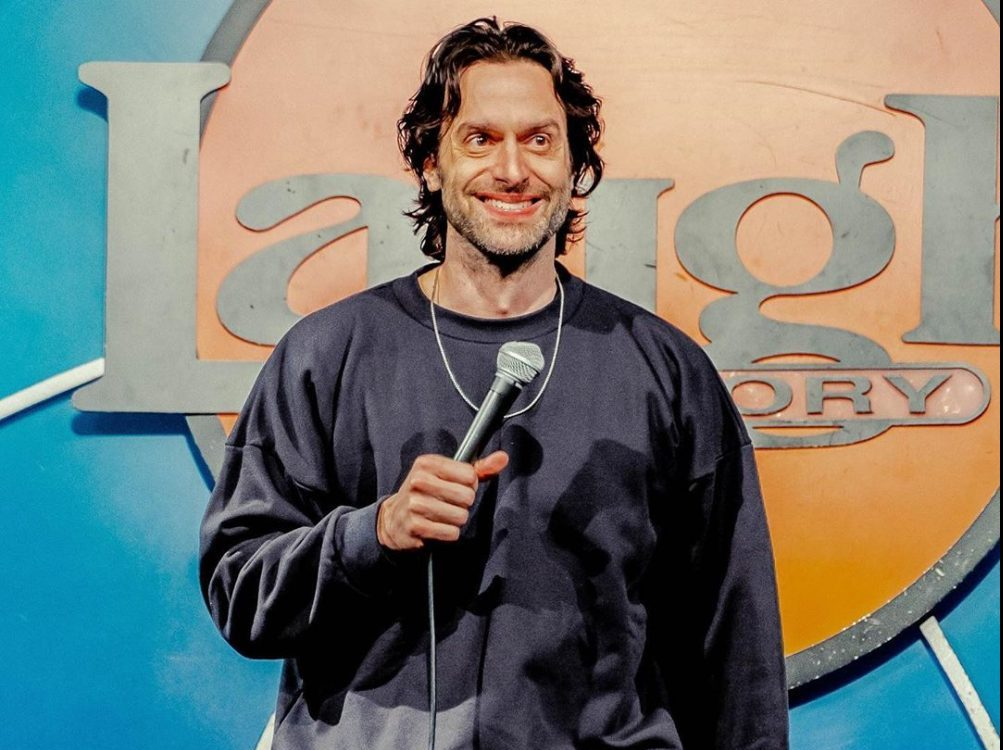 Chris D'Elia performing at the Laugh Factory
