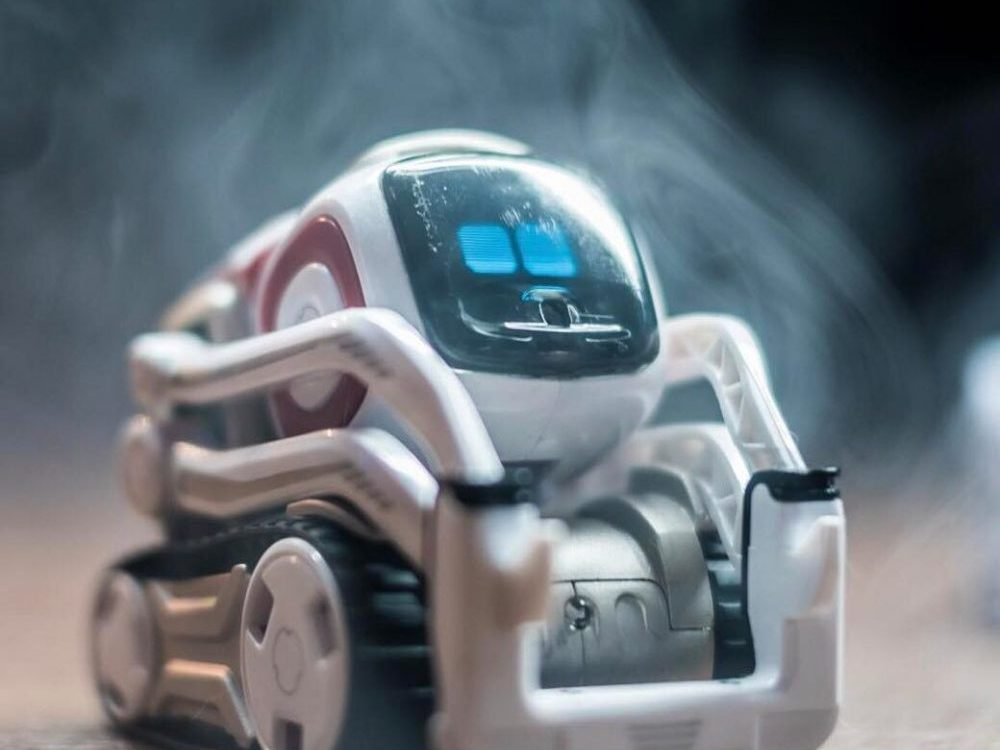 In an article about desk pets, the small robot Cozmo