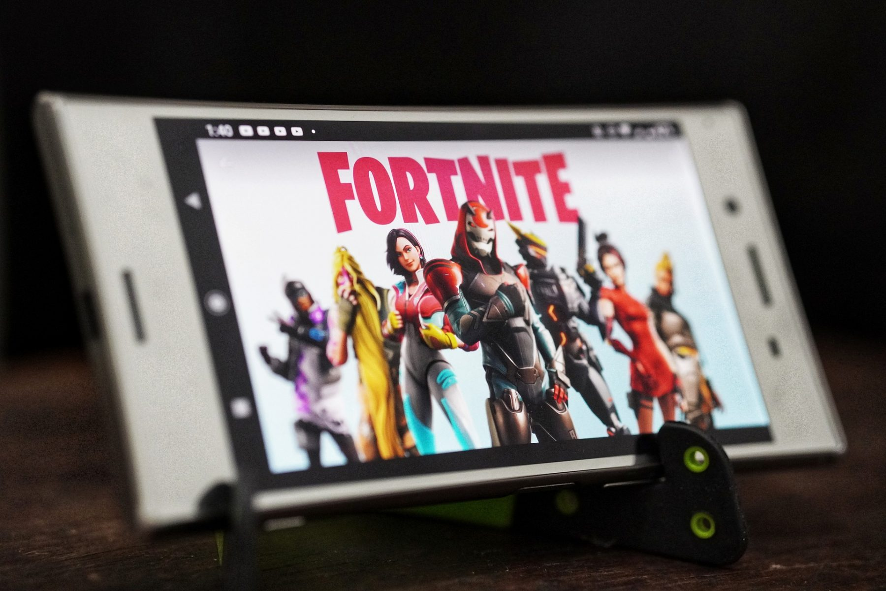 Fortnite playing on a phone