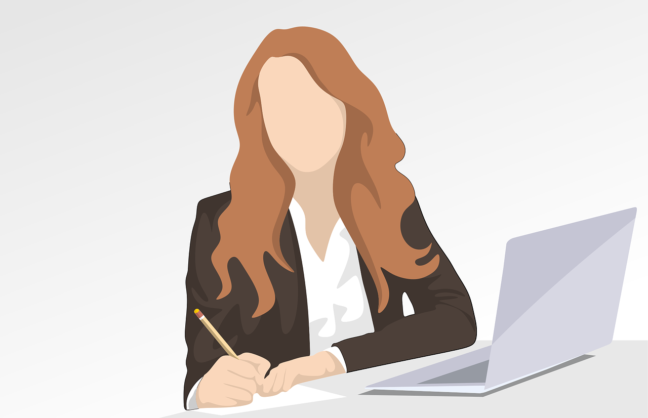Illustration of a business woman in an article about the term girlboss