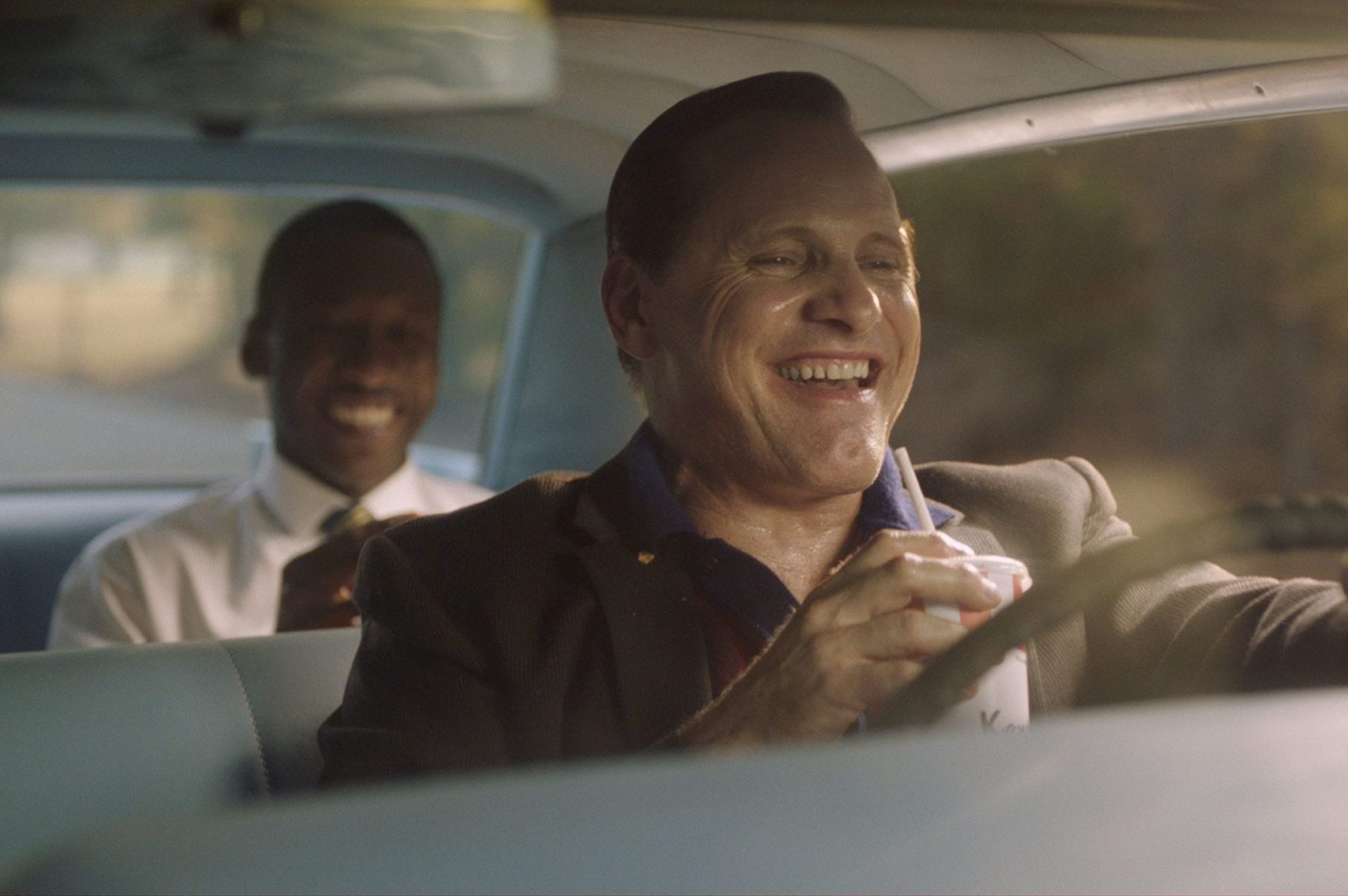 In an article about white savior films, a screenshot from the movie Green Book