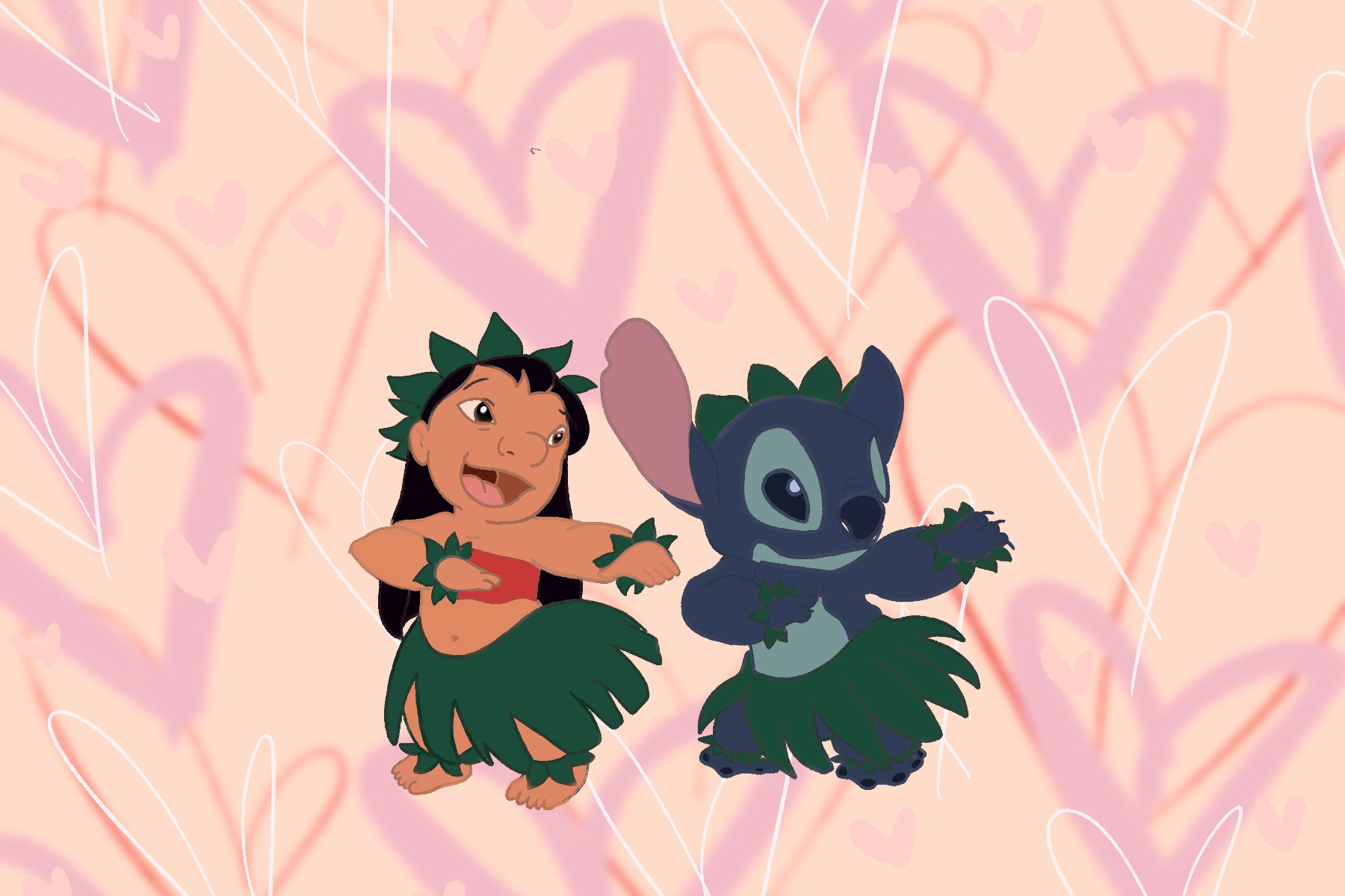 Lilo and Stitch illustration by Sezi Kaya