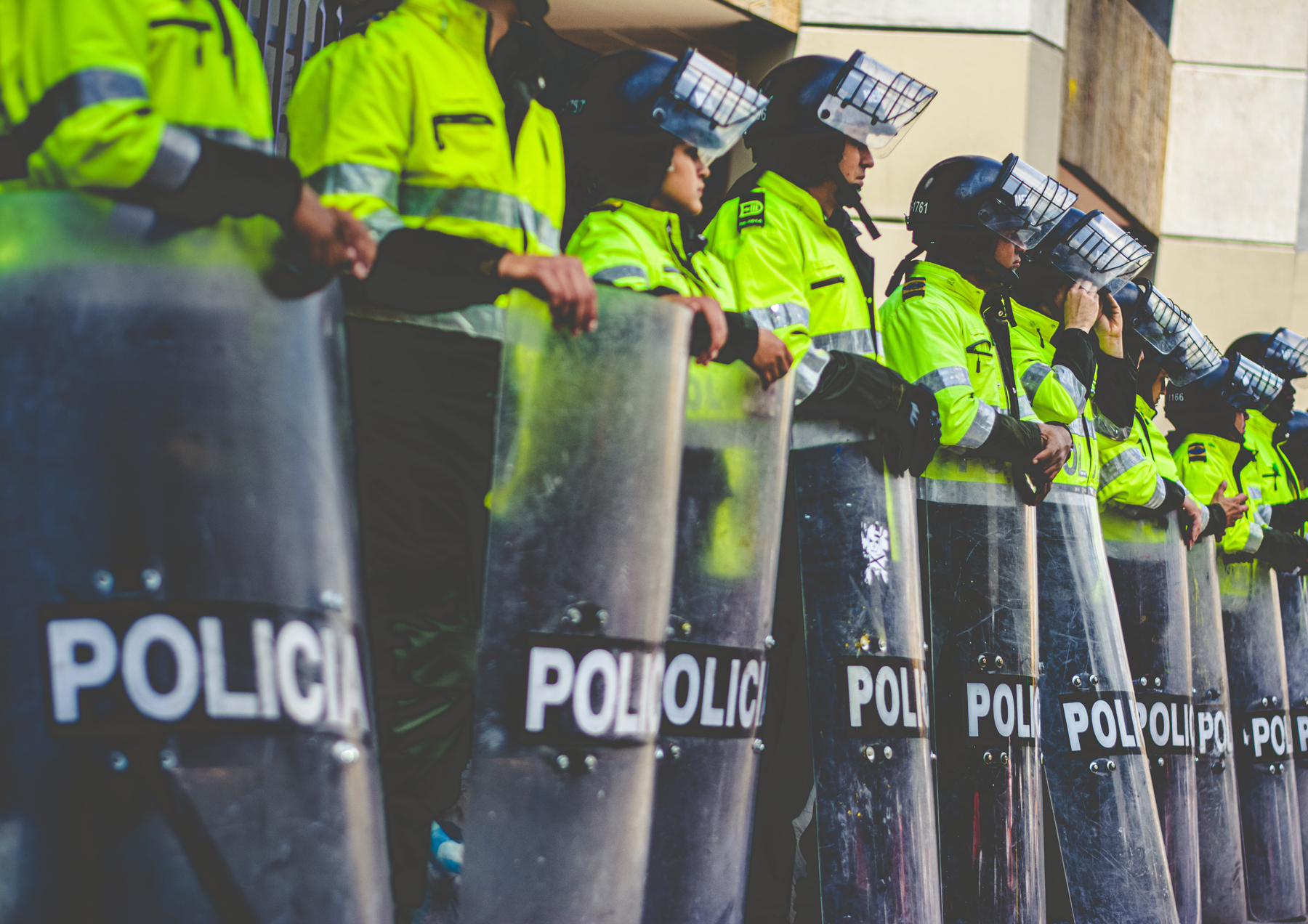Photograph of law enforcement in Colombia