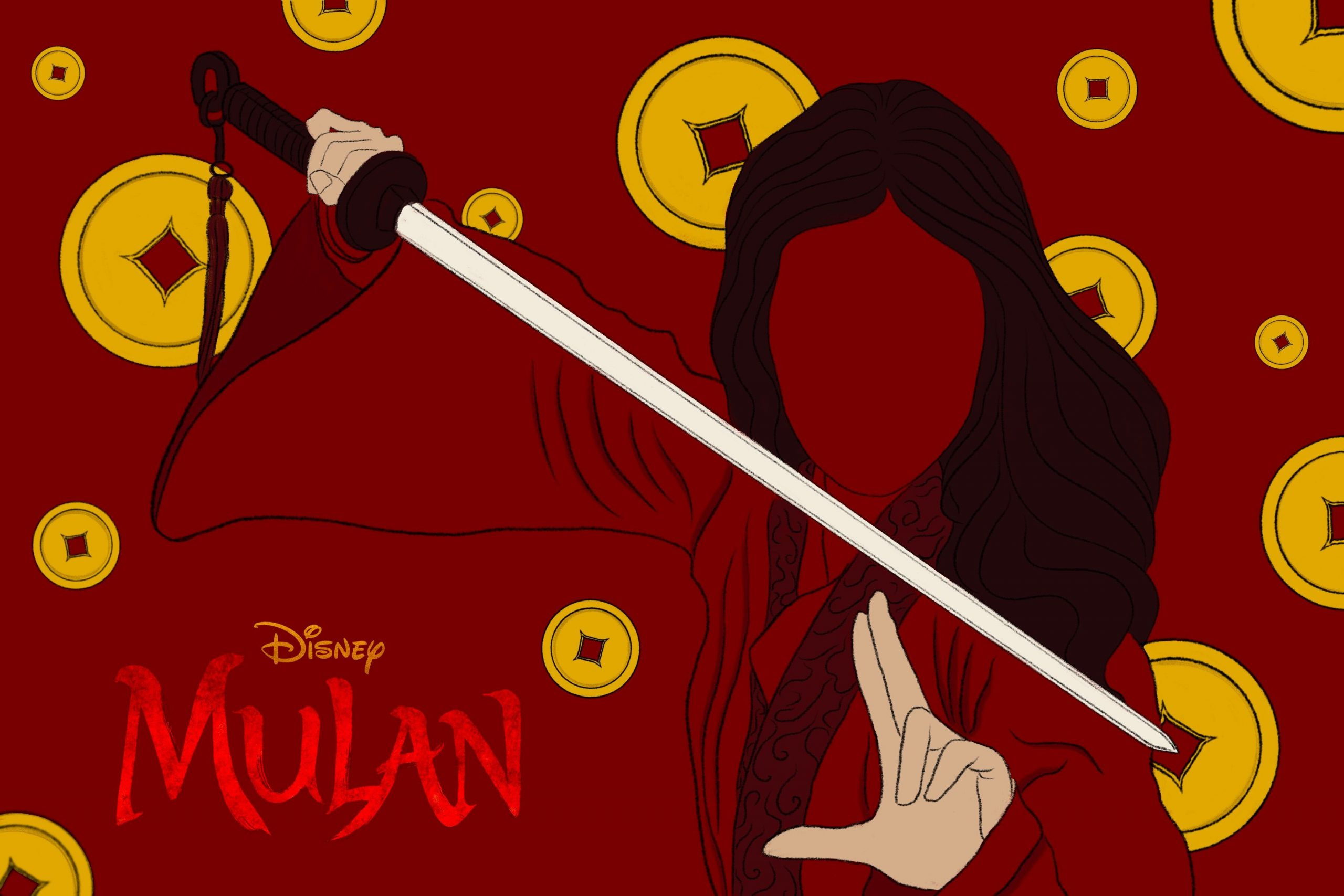 "Illustration by June Le in article about the live-action ""Mulan"""