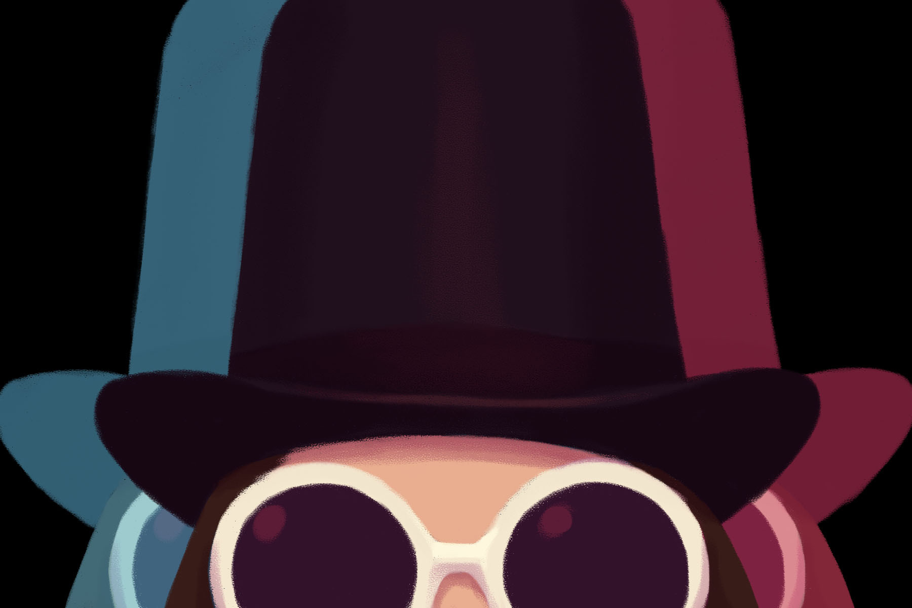 Illustration of popular television figure, Willy Wonka.