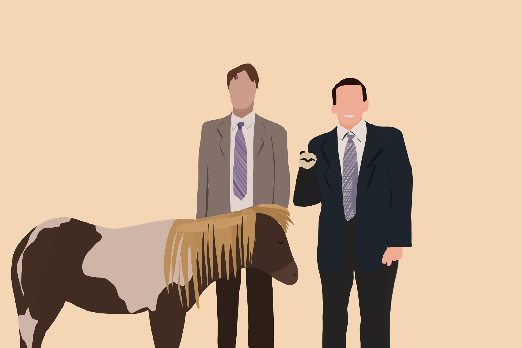 Illustration by Sezi Kaya of The Office characters