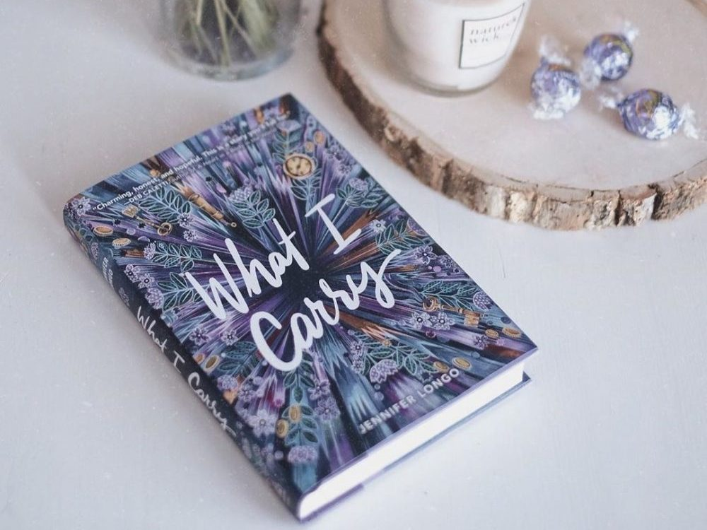 A photo of the cover of What I Carry by Jennifer Longo